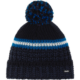Eisbär Flog Oversized Pompon Muts Heren, night/dark cobalt/bugatti/white/blue